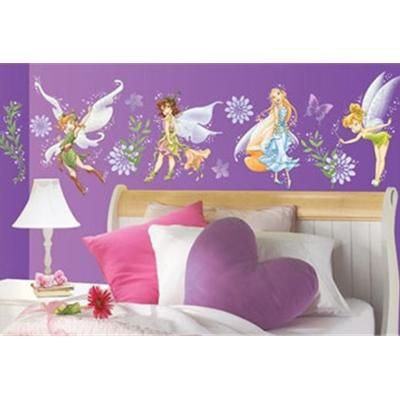 Girls\' bedroom ideas | Fairy wallpaper, Tinkerbell fairies and ...