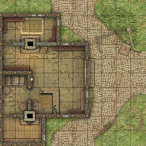 Rpg Battlemap Village Recherche Google Tabletop Rpg Maps