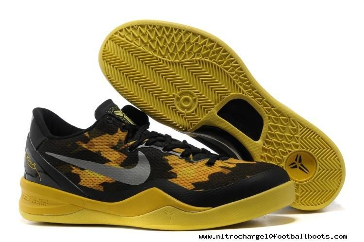 cheap for discount 0545b b796d Nike Zoom Kobe 8 VIII Black Yellow Mens Basketball Shoes For Sale
