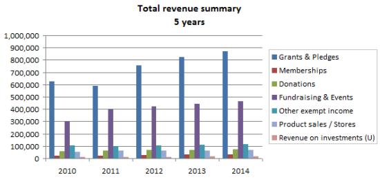 Non Profit Revenue Summary Chart  Non Profit