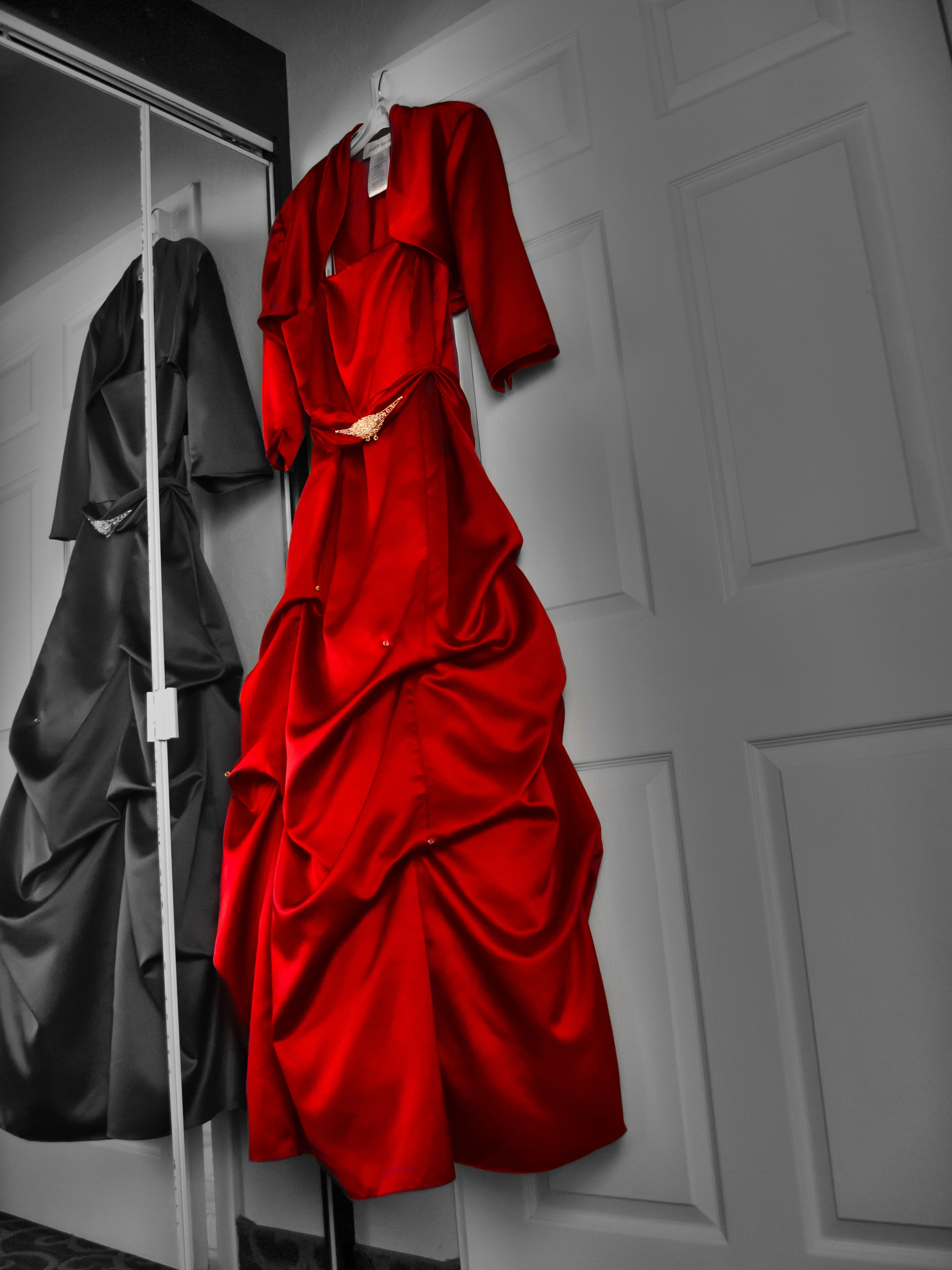 red wedding dress HDR