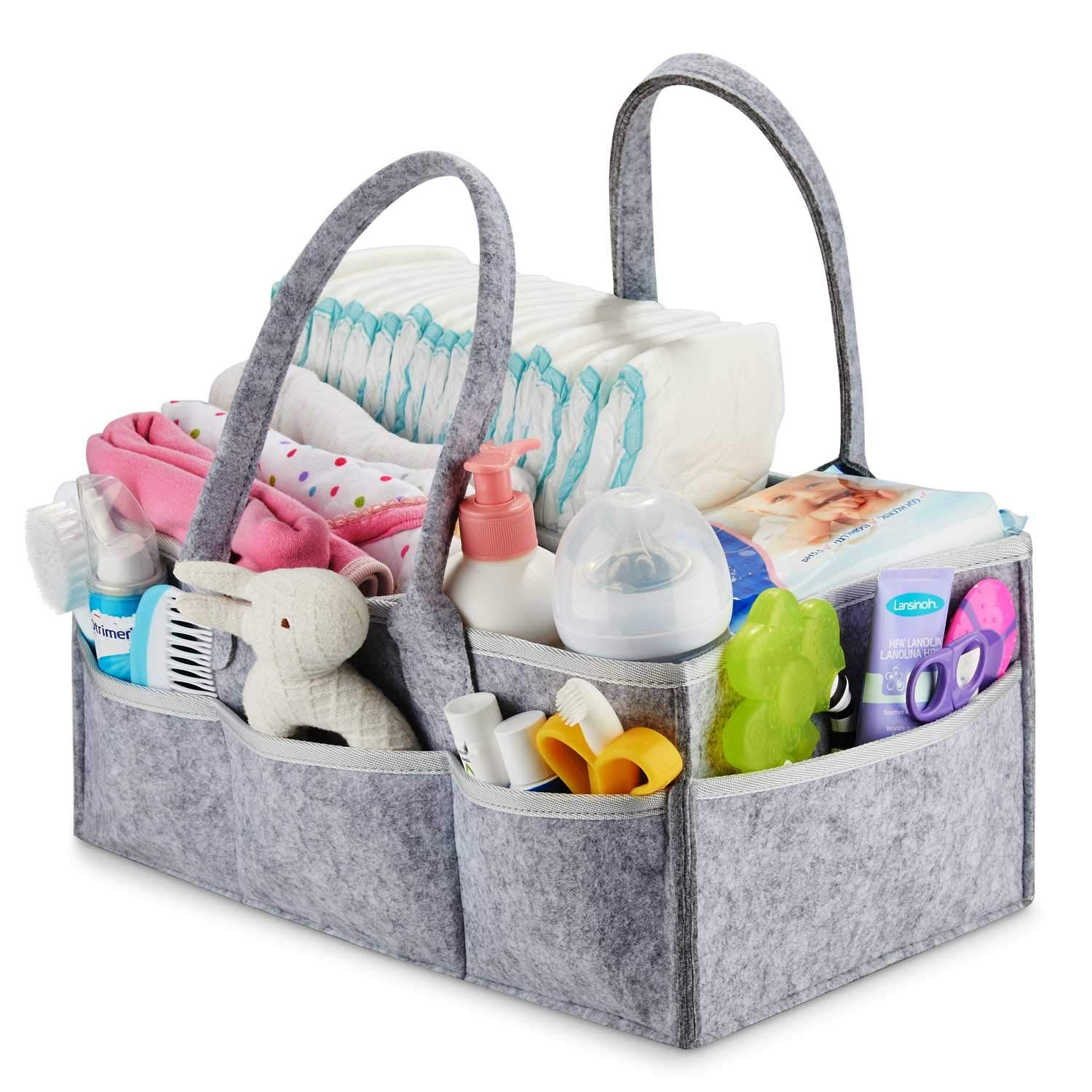 Neutral Baby Gift Basket Nursery Organizer Gift Registry for Baby Shower Changing Table Organizer Diaper Caddy Putska Baby Diaper Caddy Organizer