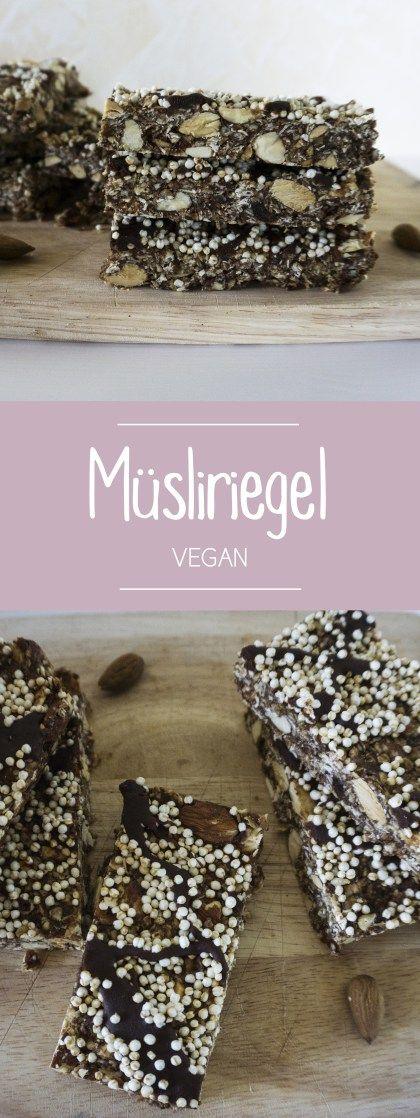 Der Schnelle Snack Fur Unterwegs Musliriegel Mit Quinoa Vegan