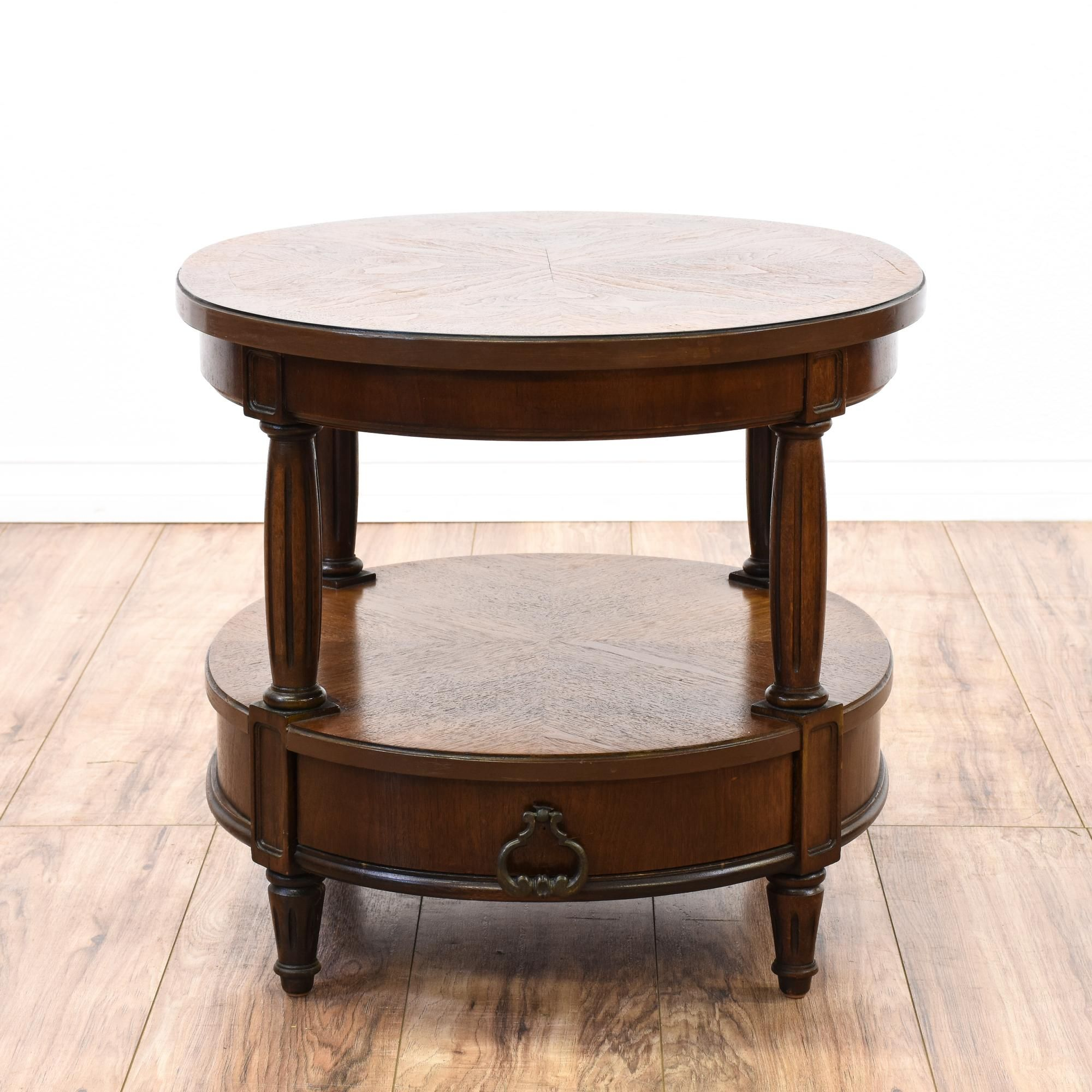 Neoclassical Thomasville Oval Tiered End Table Table End Tables Vintage Furniture