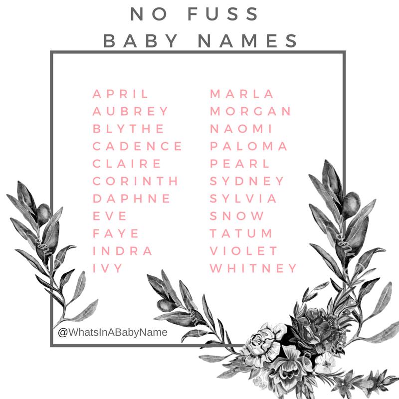 No Fuss Baby Names