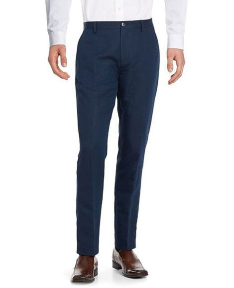 1c00abd5d0b Blackberry Night Blue formal cotton pant for Men
