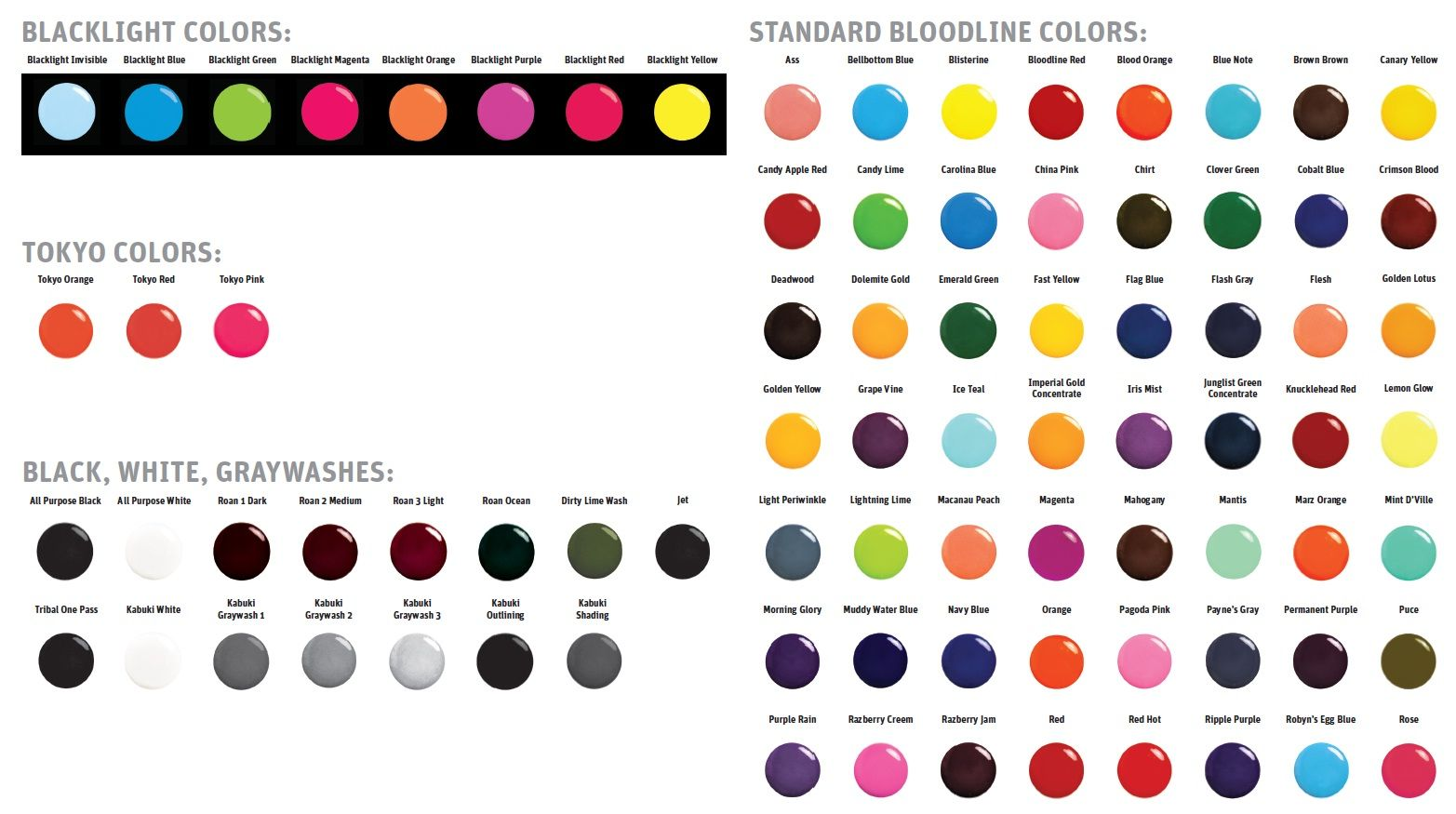 Tattoo Ink Colors >> Tattoo Color Chart You Need To Enable Javascript Tattoo