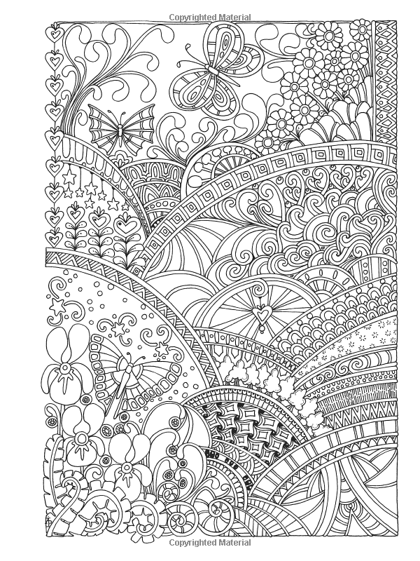 Creative Haven Insanely Intricate Entangled Landscapes Coloring Book By Dr Angela Porter