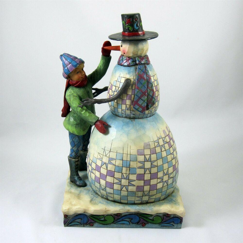 Jim Shore Christmas Snowman Collectables 2020 Jim Shore Frosty Friends Snowman Holiday Trim Figurine Heartwood