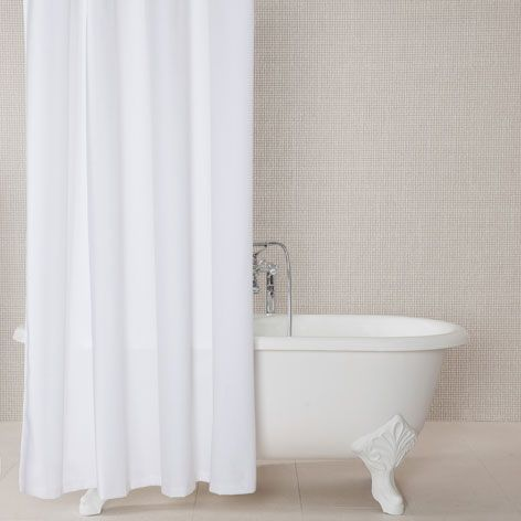 Pique Bathroom Shower Curtain