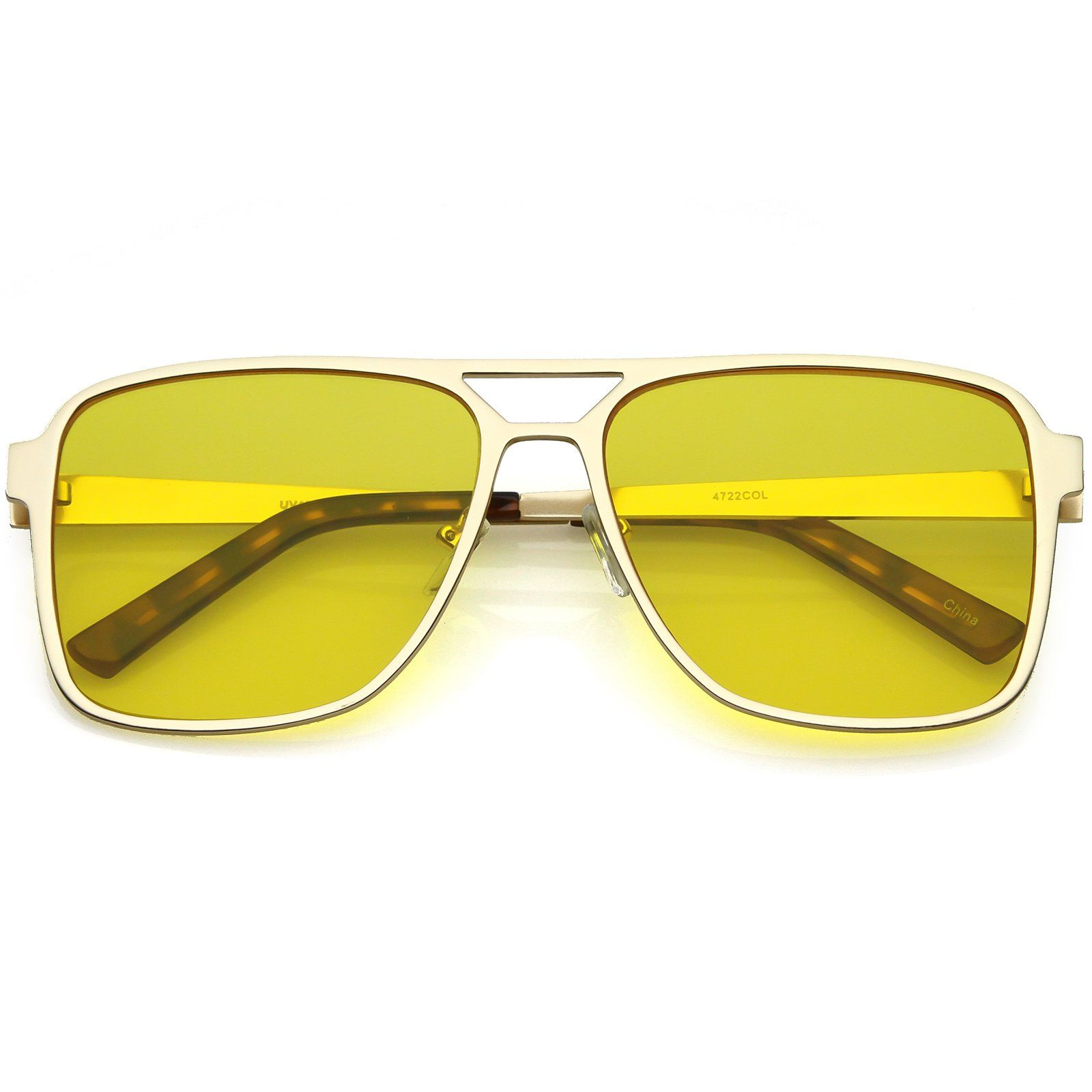 4458dbb7b Oversize Flat Top Aviator Sunglasses Color Tinted Square Flat Lens 58mm # oversized #sunglass #frame #sunglasses #clear #summer #mirrored #womens  #cateye # ...