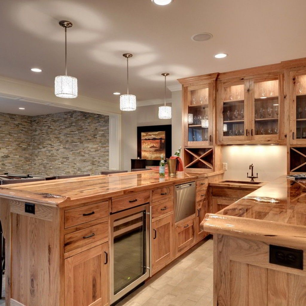 Amazing Hickory Kitchen Cabinets For Your Beautiful Kitchen