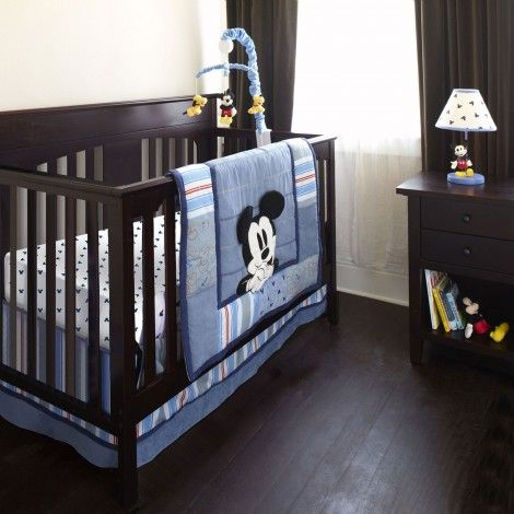 Personalizable MICKEY MOUSE 6 Pc. Crib Bedding Set