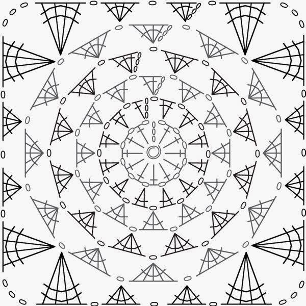 crochelinhasagulhas: Quadradinhos em crochê   Aplicaciones ...
