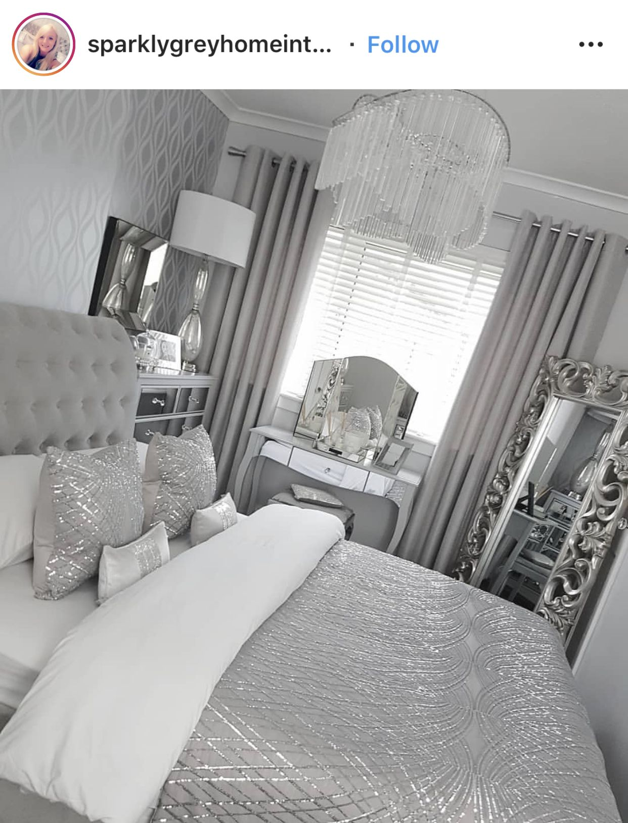 Pin By Anisa Stillman On Room Decor Silver Bedroom Decor