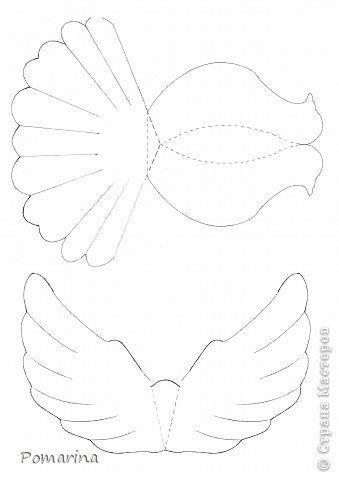 DIY Paper Dove With Printable Template !