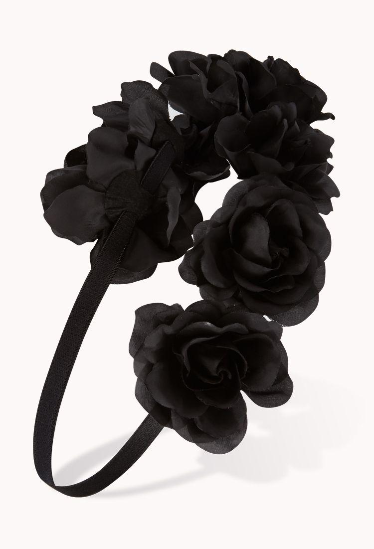 Black Flower Headband Gotico Pinterest Flower Crowns