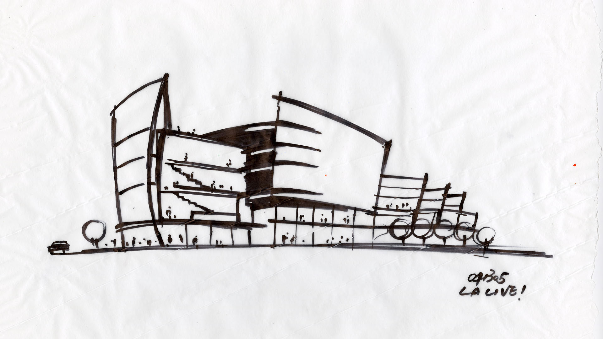 Architecture sketches entertainment 39 s la live los for Cheap architectural drawings