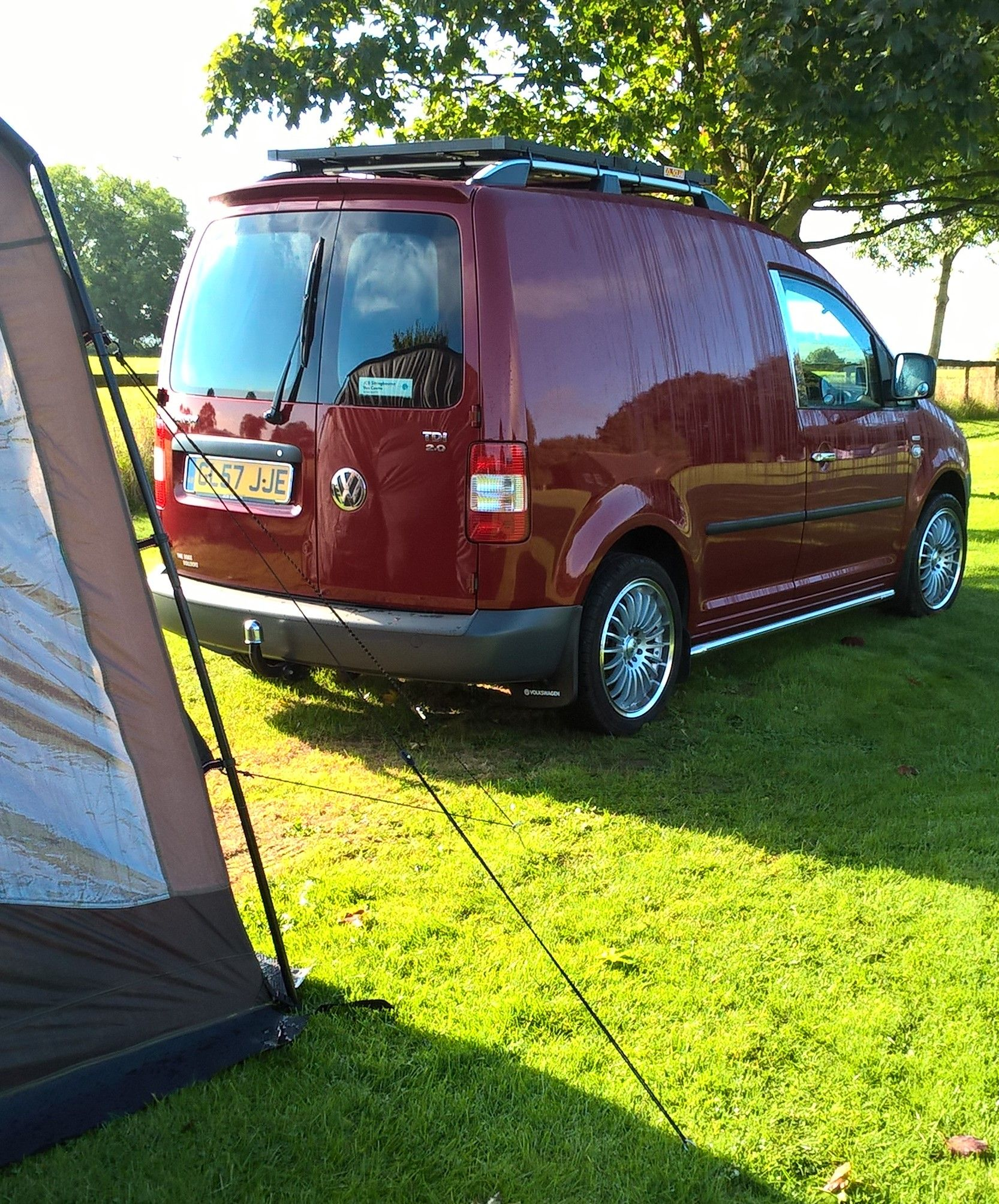 vw caddy solar camper with drive away awning my vw caddy. Black Bedroom Furniture Sets. Home Design Ideas