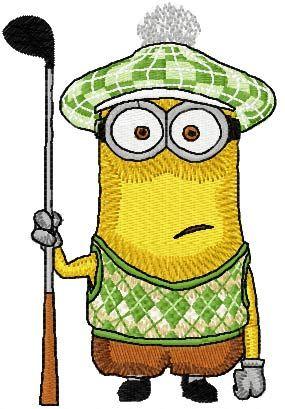 Golfing Minion machine embroidery design   Machine ...
