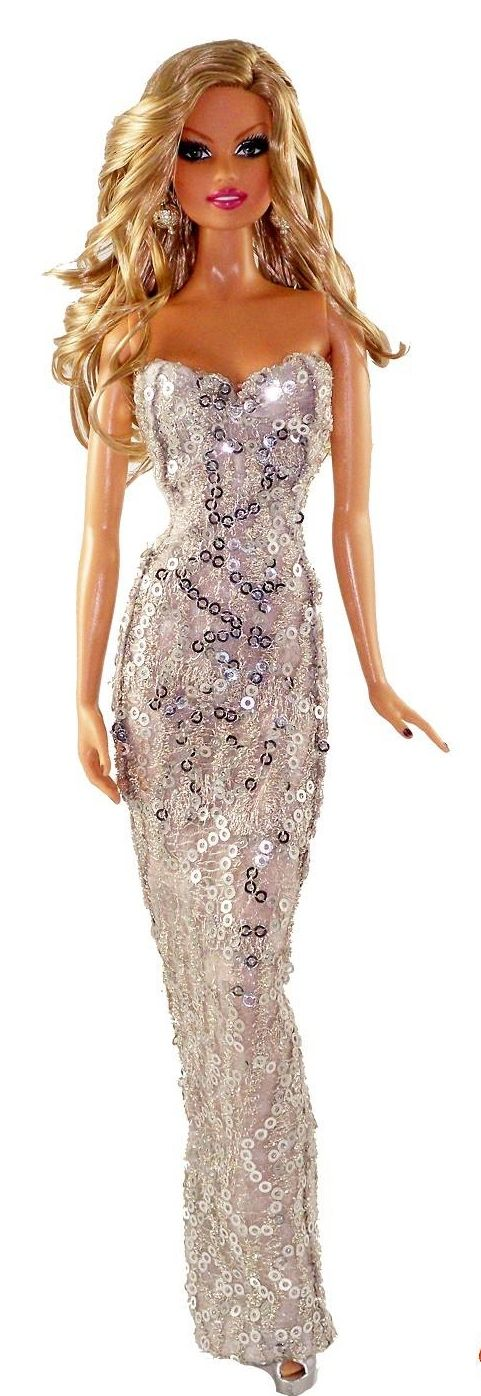 barbie evening gowns MDU Argentina 12 33 3 | Barbie in silver ...