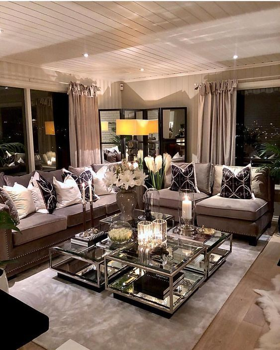Lovely Vintage Living Room Ideas With Glamour Furniture: 45 Classic And Comfortable Living Room Decoration Ideas