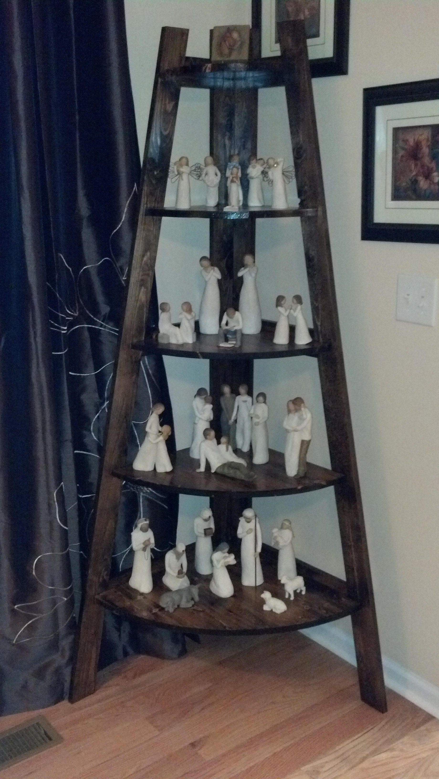 Diy ladder shelf would be great for the bathroom home sweet home