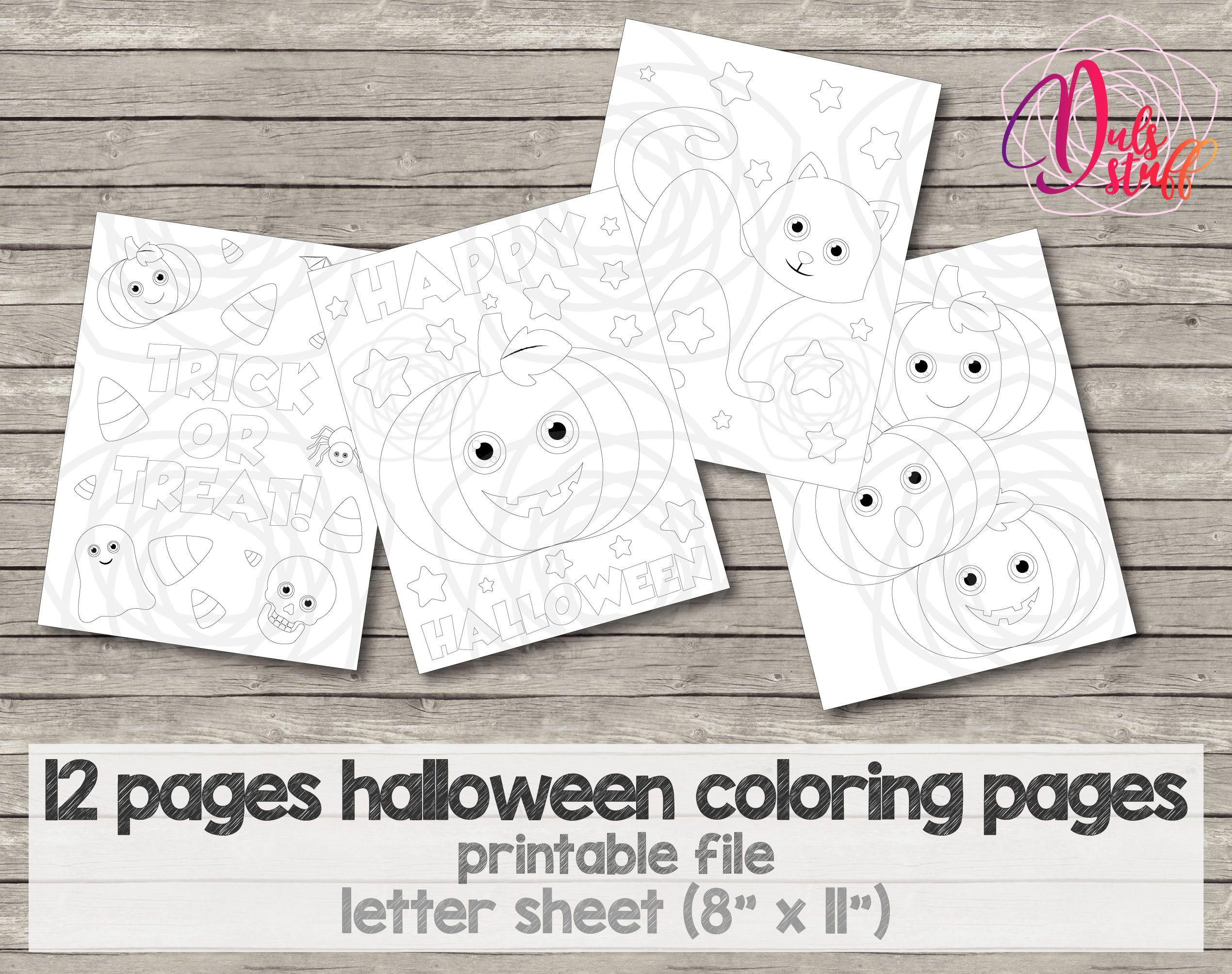 Páginas para colorear de halloween, fantasma, calabaza, bruj ...