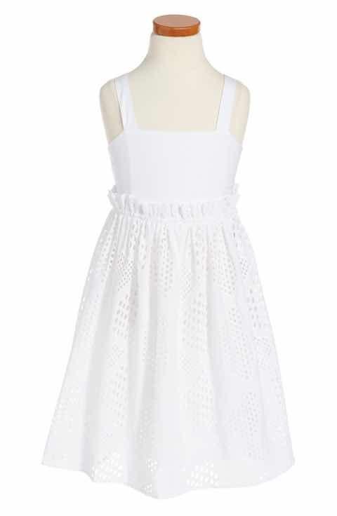 Milly Minis Eyelet Midi Sundress (Toddler Girls, Little Girls & Big Girls)