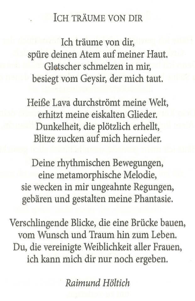 Poem Ich Träume Von Dir In The Anthology Bibliothek
