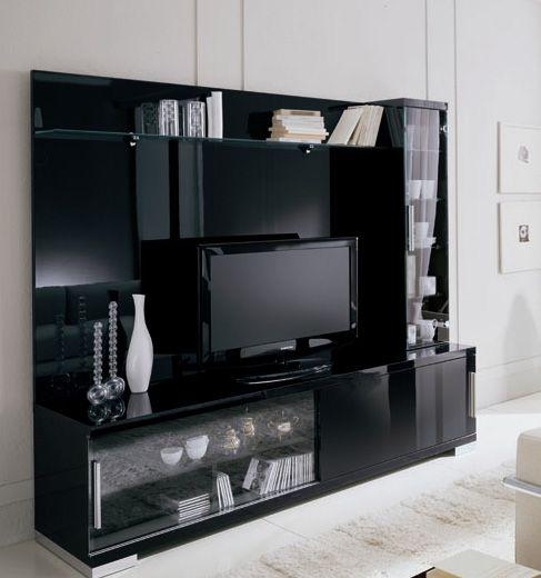 Wallunits Furniture Entertainment Centers Capri Capri Black Wall Unit Is  Available For Special Order