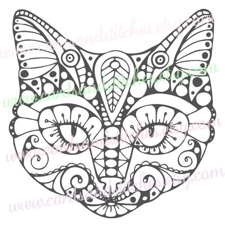 Wonderful Cat Mandala SVG   Cat SVG   Cat Mandala Clipart   Instant Download   Vector    Svg, Dxf, Jpg, Eps, Png   Silhouette Cut   Digital Cut File