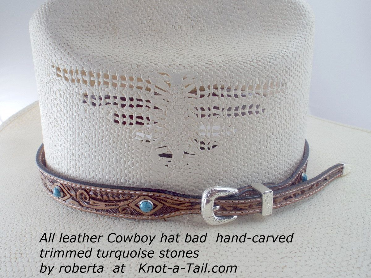 Leather Hat Band Cowboy Hat Band Hand Craved Leather Hat Band Leather Cowboy Hat Band Silver Side Buckle Leather Cowboy Hats Leather Hat Bands Cowboy Hats
