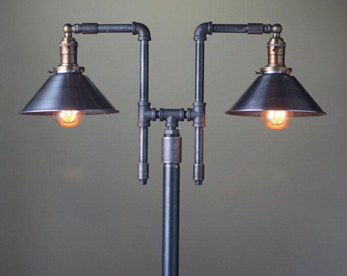 Industrial floor lamp copper shade industrial - Iluminacion estilo industrial ...
