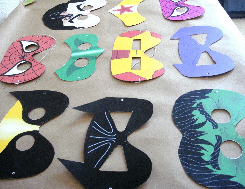 8 Superhero Masks Printable Files Craft Project