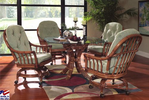 20 best images about caster chairs on pinterest cushions key largo and chairs - Dining Room Table And Chairs With Wheels