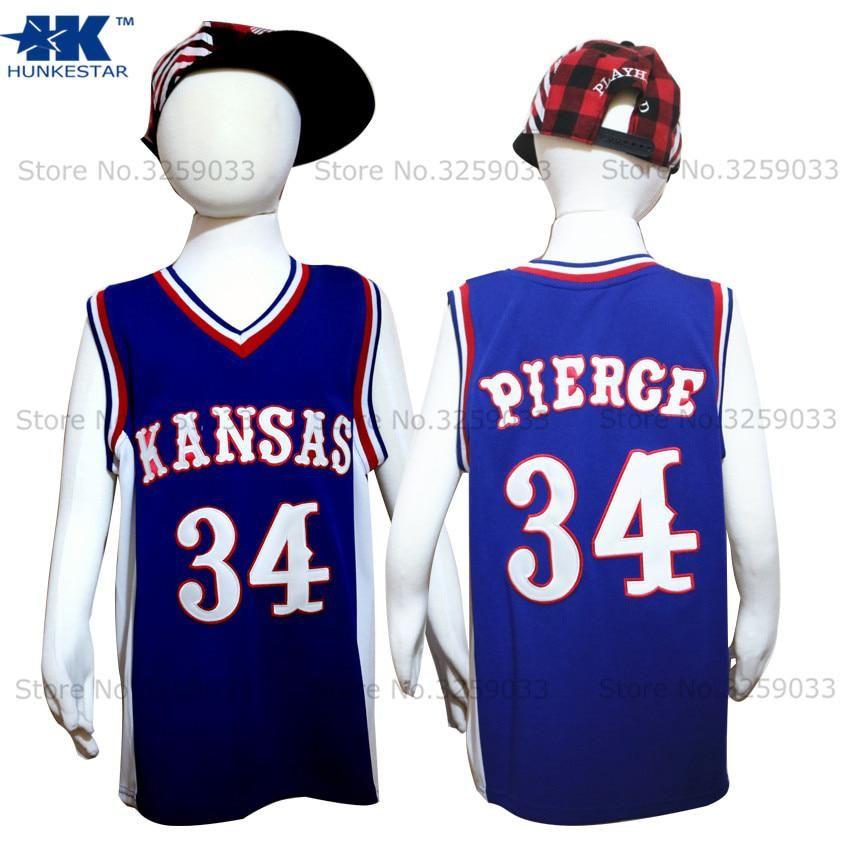 f7db05037e73 Kids Boy Paul Pierce Jersey Kansas Jayhawks KU College Throwback Basketball  Jersey Youth Basket Uniforms Stitched For Children. Yesterday s price  US   38.95 ...