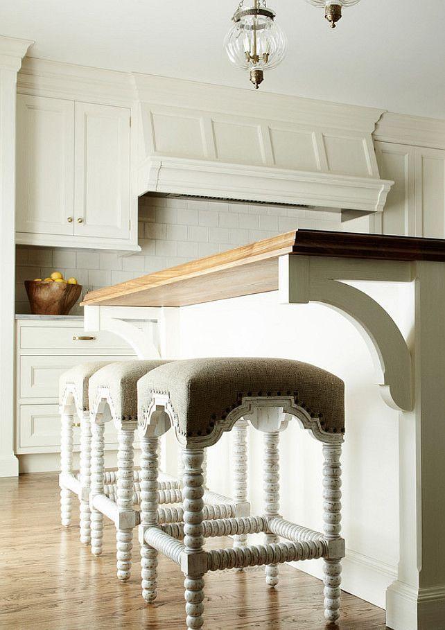 Noir Abacus French Country Linen White Wash Bobbin Counter Stool White Kitchen Design Home Kitchen Design