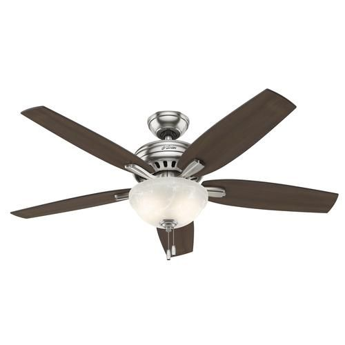 Hunter 52 Chatham Brushed Nickel Ceiling Fan With Light At