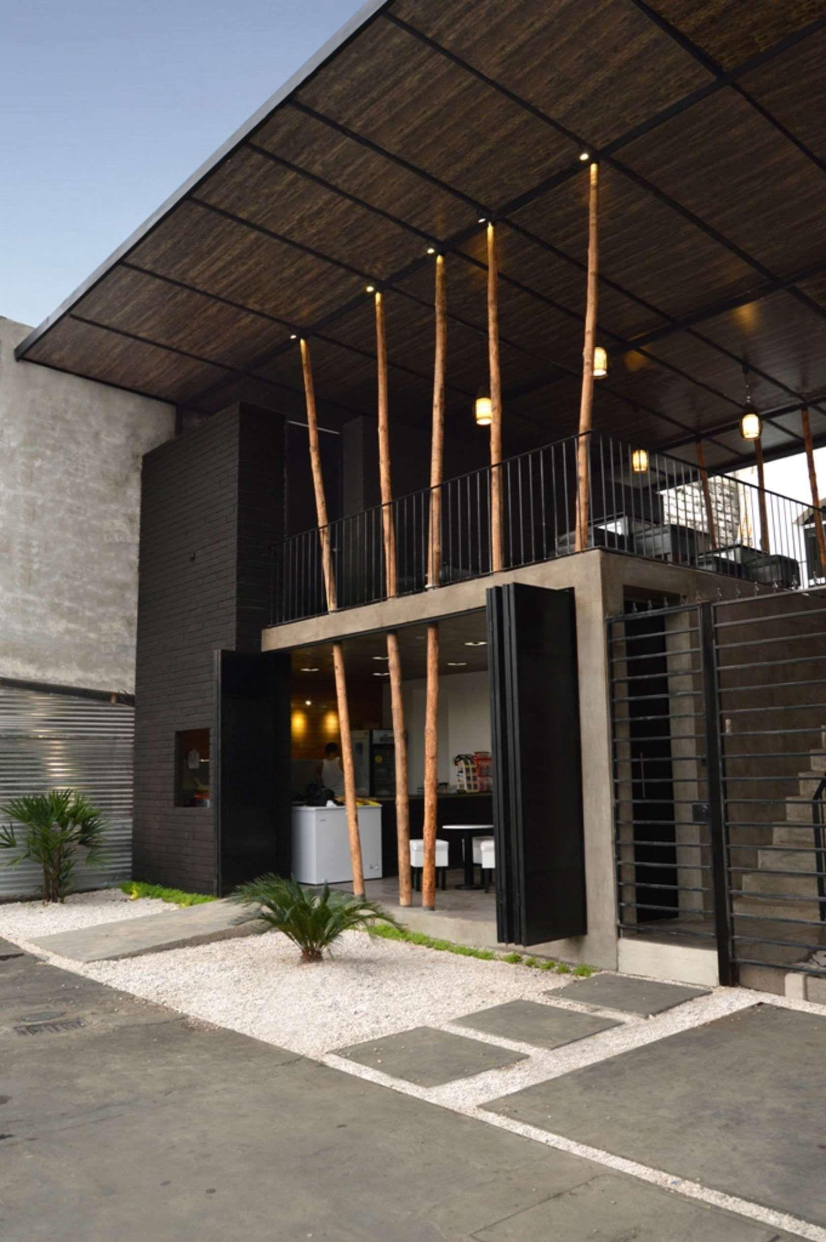Doble altura fachada edificios pinterest fachadas for Techos modernos exterior