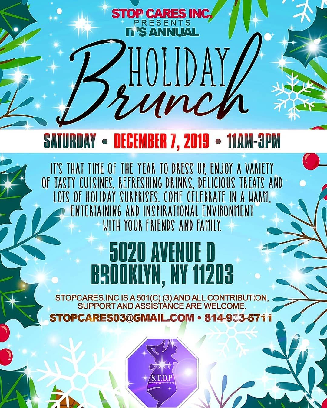 Stop Cares Inc Presents It S Annual Holiday Brunch Of 2019 Stop Cares Inc Presents It S Annual Holiday Brunch Refreshing Drinks Holiday Brunch Entertaining