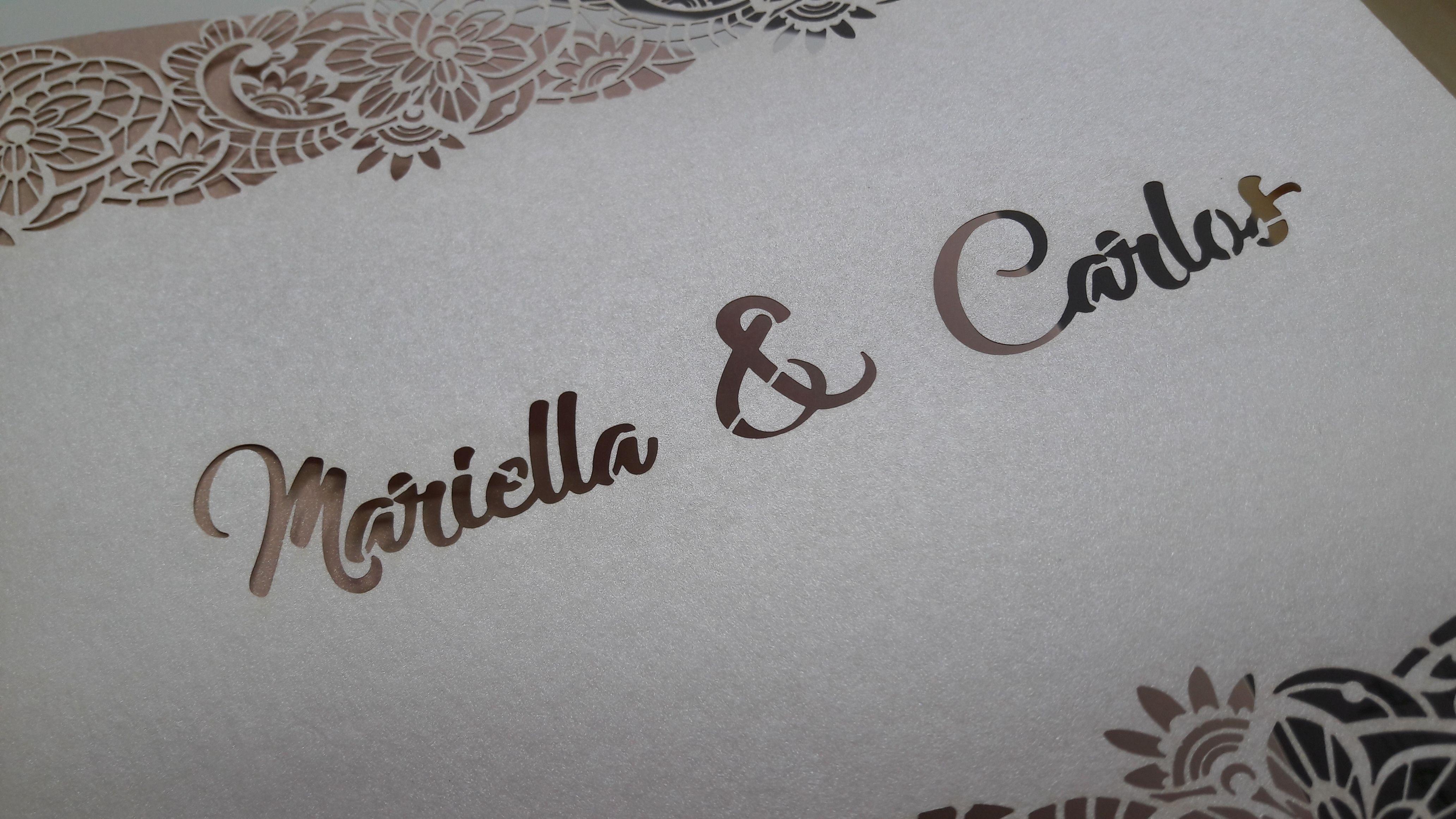 Druckerei Laserstanzung Hochzeitskarten Bei Dieser Hochzeitskarte