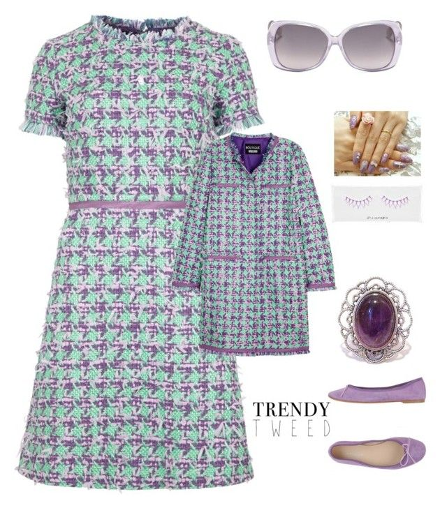 """Trendy Tweed contest"" by im-karla-with-a-k ❤ liked on Polyvore featuring Boutique Moschino, Christian Dior, Paolo Simonini, shu uemura, women's clothing, women, female, woman, misses and juniors"