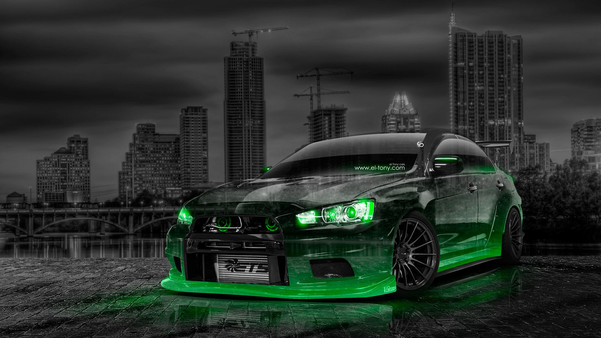 Etonnant Mitsubishi Lancer Evolution X Tuning JDM Crystal City
