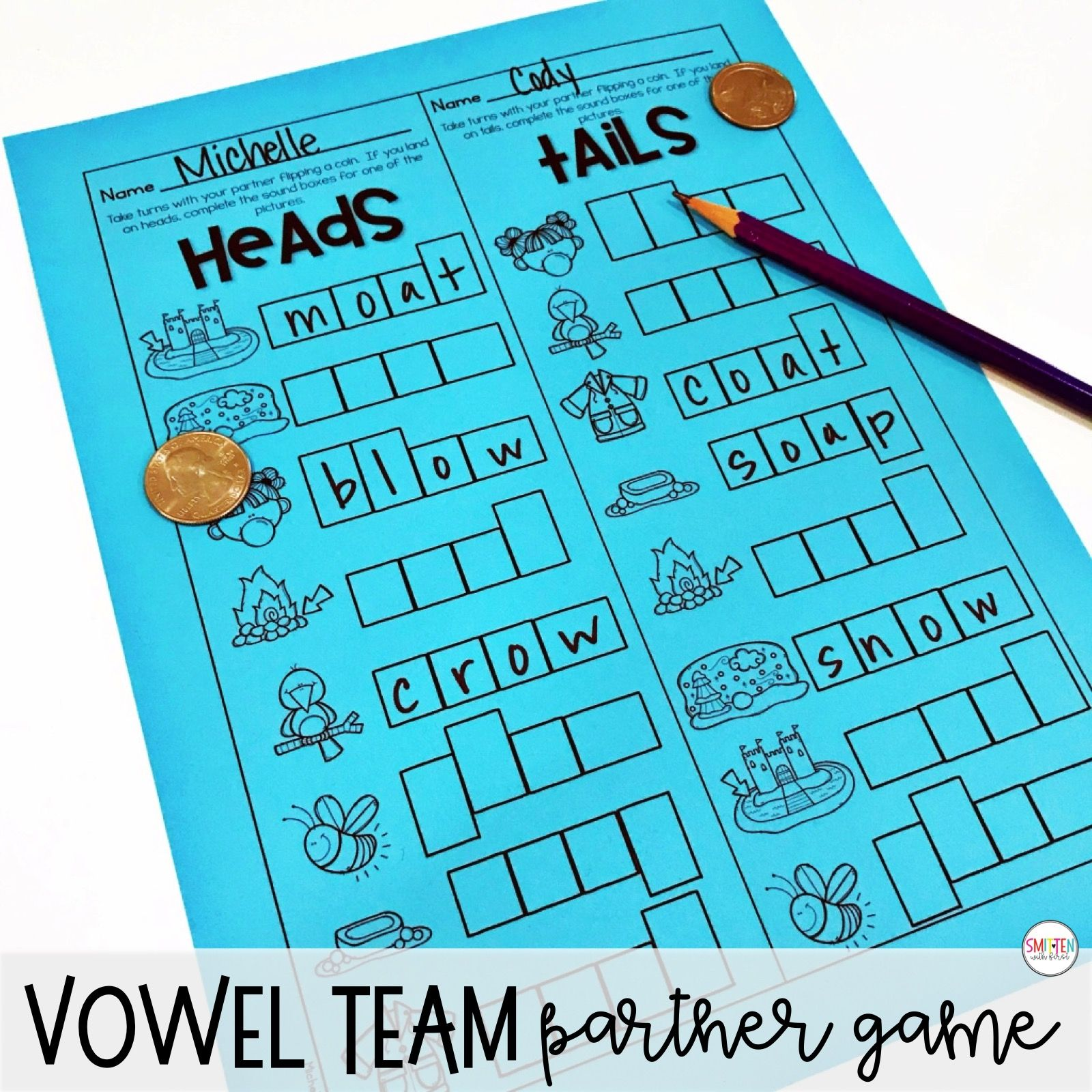 Oa And Ow Words Worksheet