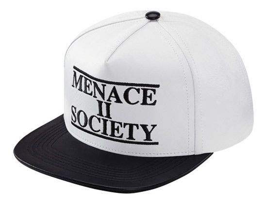 20a30d71440 Menace Leather Snapback Cap by SUPREME