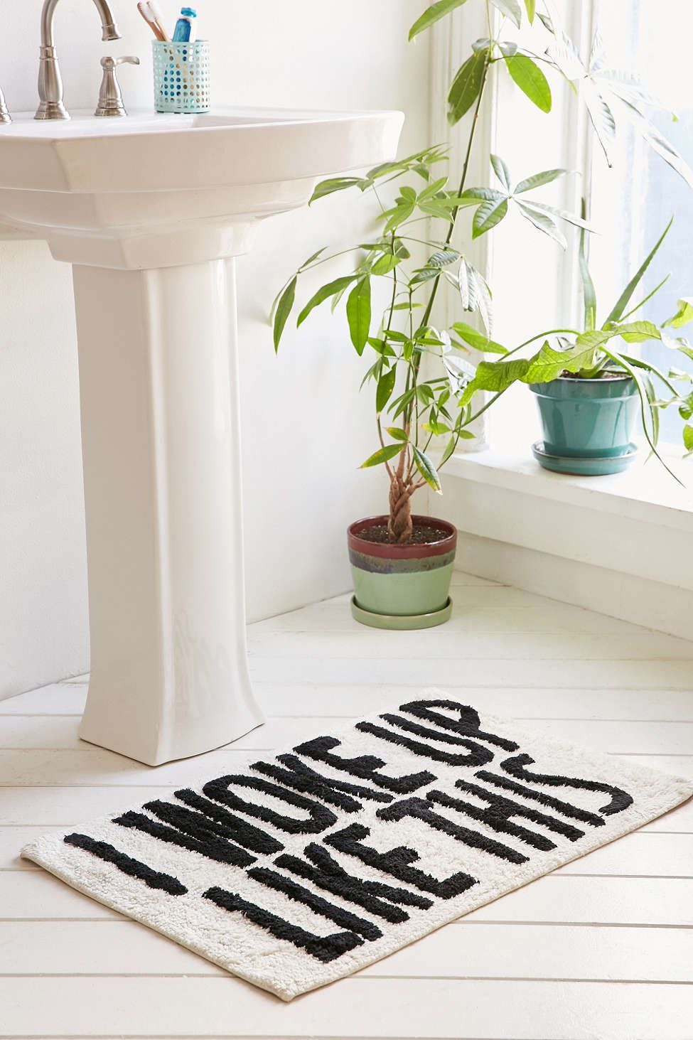 I Woke Up Like This Bath Mat Bath Mats Bath Mat And Urban - Long bath mats and rugs for bathroom decorating ideas