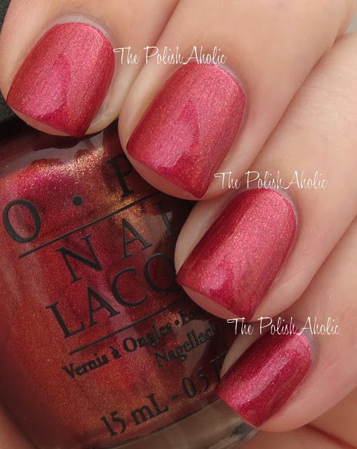 Embarca-Dare Ya! is a magenta shimmer. This has the slightest touch of a golden duochrome to it...Love it!  OPI Fall 2013 San Francisco Collection Swatches