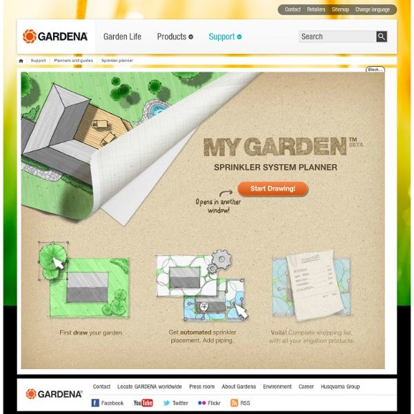 my garden garden sprinkler planner from gardena digital tools for stress free design. Black Bedroom Furniture Sets. Home Design Ideas