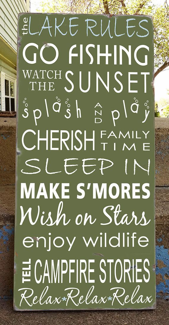 Custom Lake House Rules Sign Personalized Lake House Signs Lake